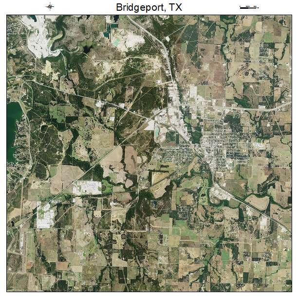 Bridgeport, TX air photo map