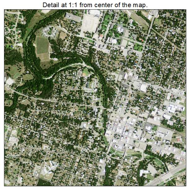 Aerial Photography Map of Belton, TX Texas