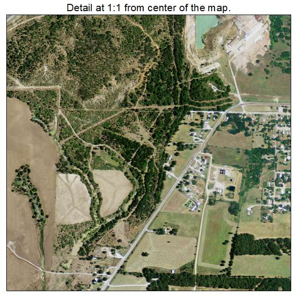 Bridgeport, Texas aerial imagery detail