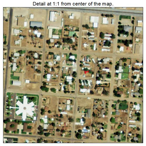 Farwell, Texas aerial imagery detail