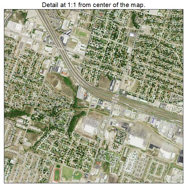 Killeen, Texas aerial imagery detail