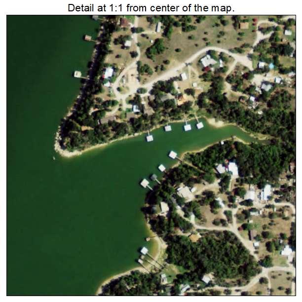 Lake Bridgeport, Texas aerial imagery detail