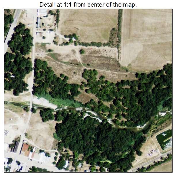 Menard, Texas aerial imagery detail