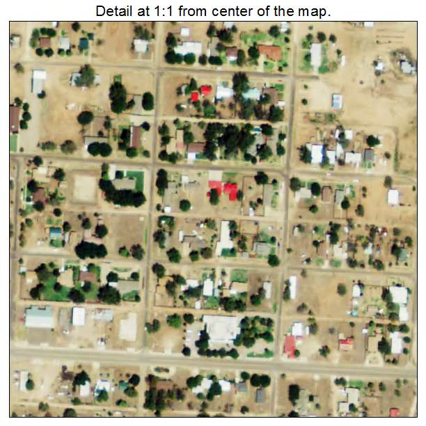 Aerial Photography Map of Quitaque TX Texas