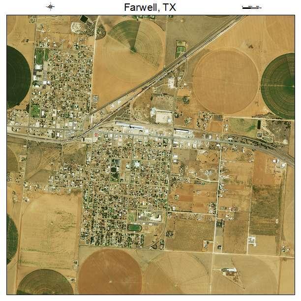 Farwell, TX air photo map