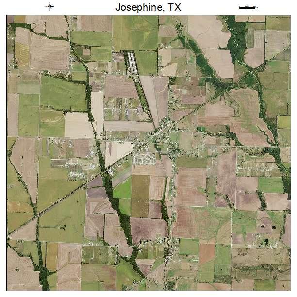 Aerial Photography Map of Josephine, TX Texas Josephine Texas