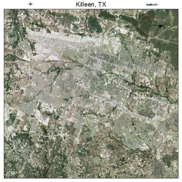 Killeen, TX air photo map