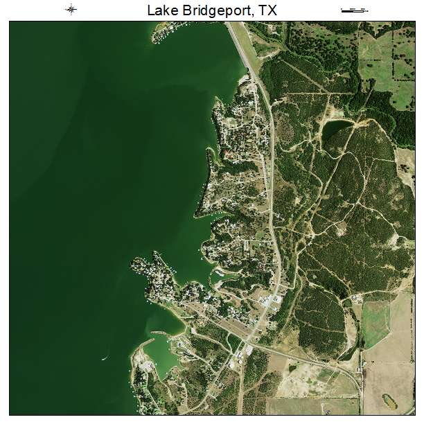 Lake Bridgeport, TX air photo map