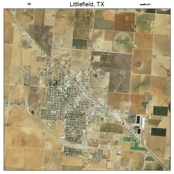 Aerial Photography Map Of Littlefield Tx Texas