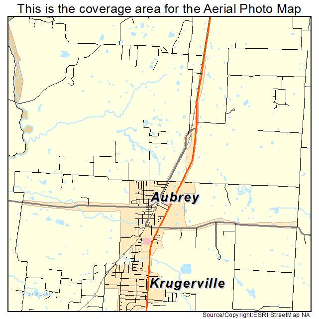 Aubrey, TX location map