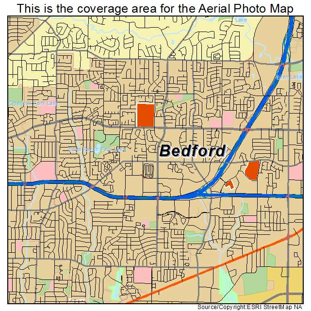 Map Of Bedford Texas