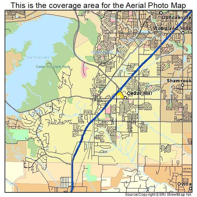 Map Of Cedar Hill Texas