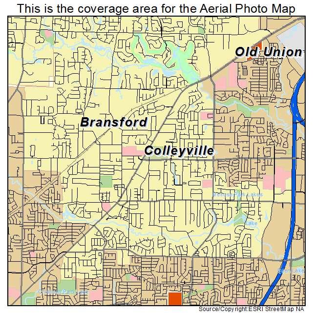 Colleyville Tx Texas Aerial Photography Map 2014