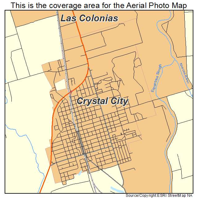 Aerial Photography Map Of Crystal City TX Texas