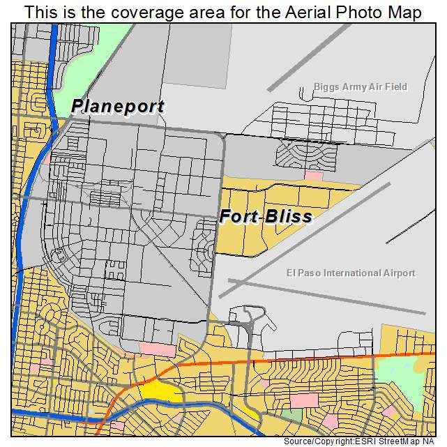 Ft Bliss Texas Map