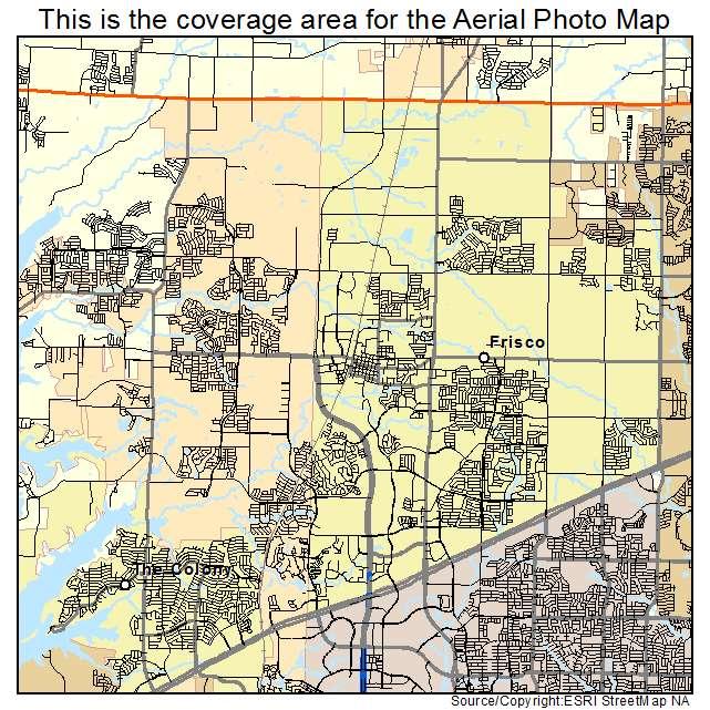 Map Of Texas Frisco.Frisco Tx Texas Aerial Photography Map 2014