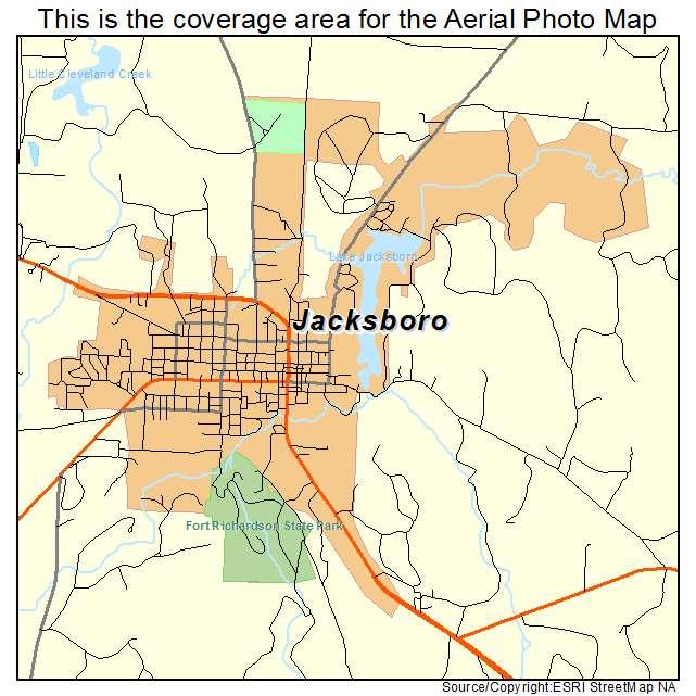 Map Of Jacksboro Texas.Jacksboro Tx Texas Aerial Photography Map 2014