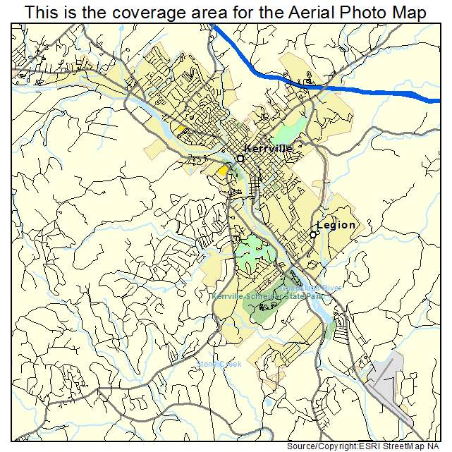 Aerial Photography Map Of Kerrville TX Texas