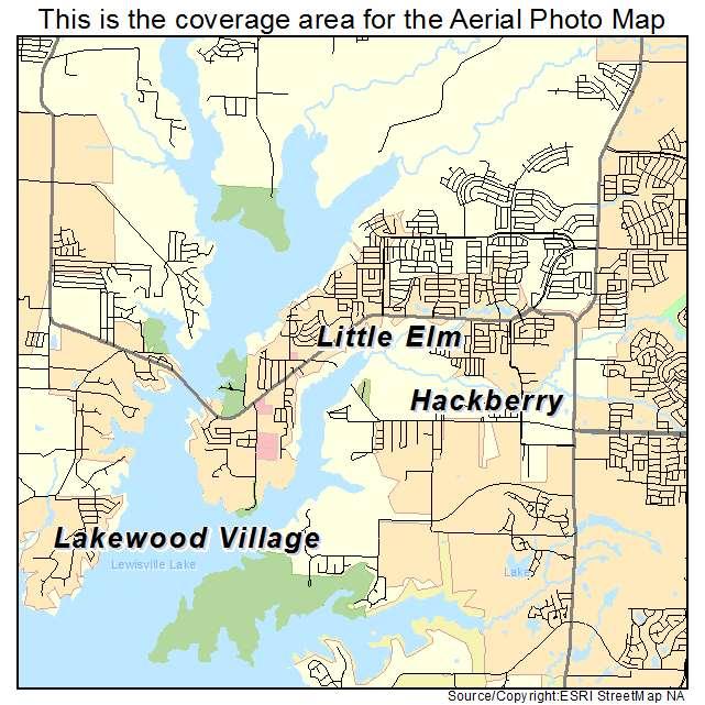 Map Of Little Elm Texas