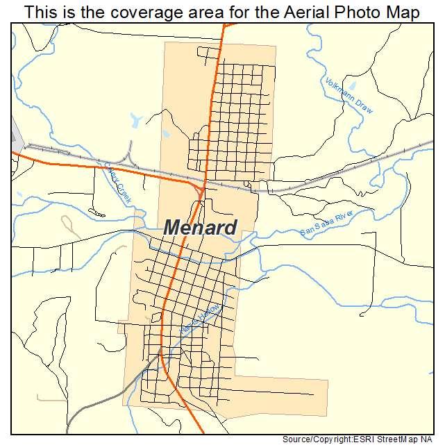 Menard, TX location map