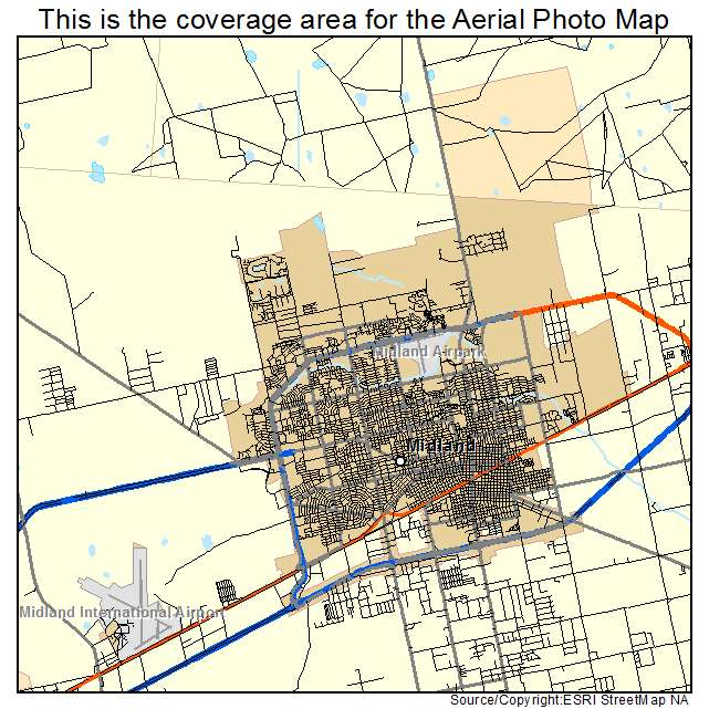 Map Of Midland Texas And Surrounding Areas.Aerial Photography Map Of Midland Tx Texas