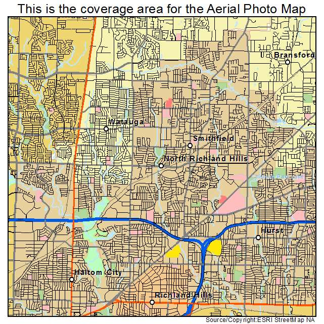 Aerial Photography Map of North Richland Hills TX Texas