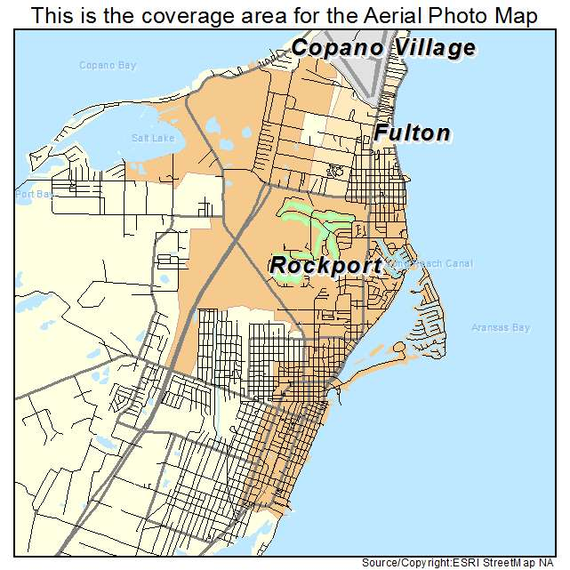 Map Of Texas Please.Rockport Tx Texas Aerial Photography Map 2014
