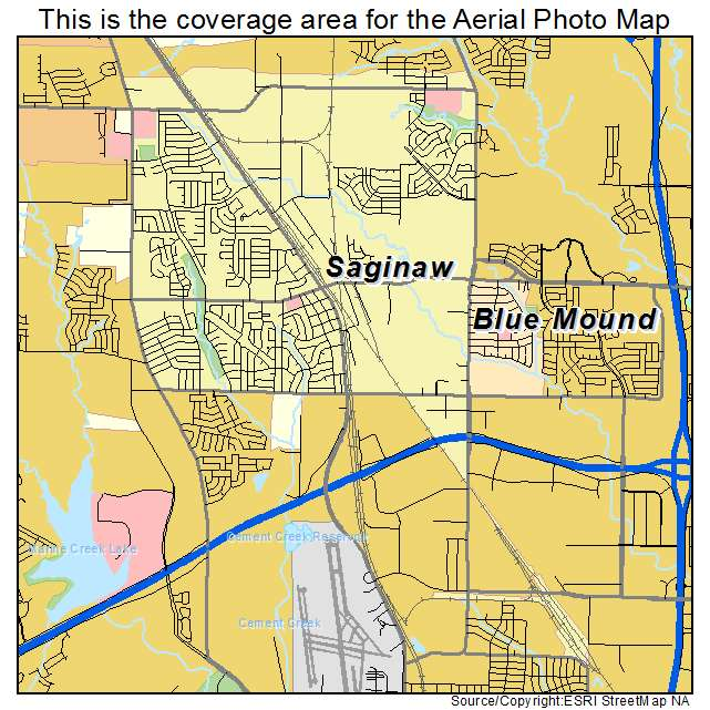 Map Of Saginaw Texas