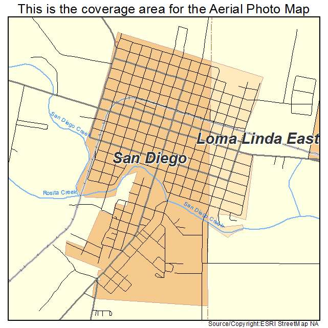 Aerial Photography Map Of San Diego Tx Texas