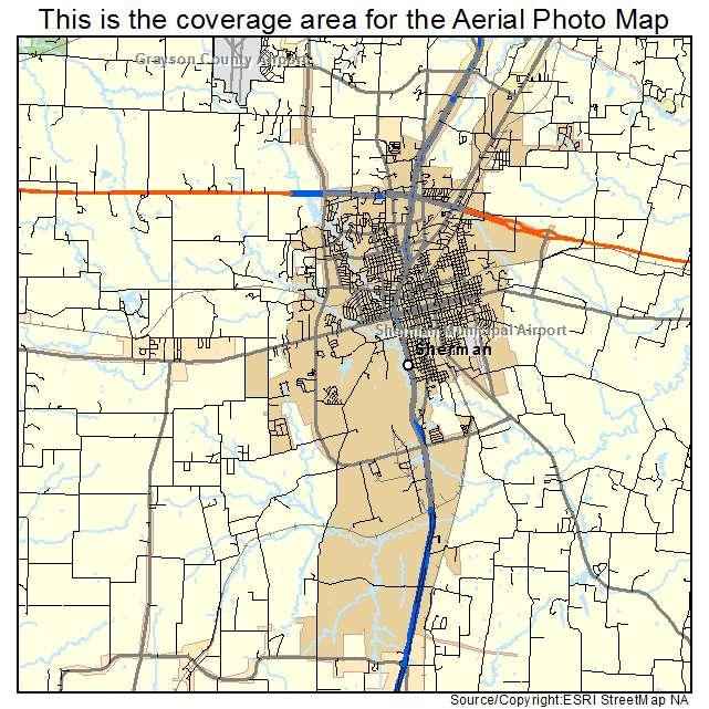 Sherman, TX location map