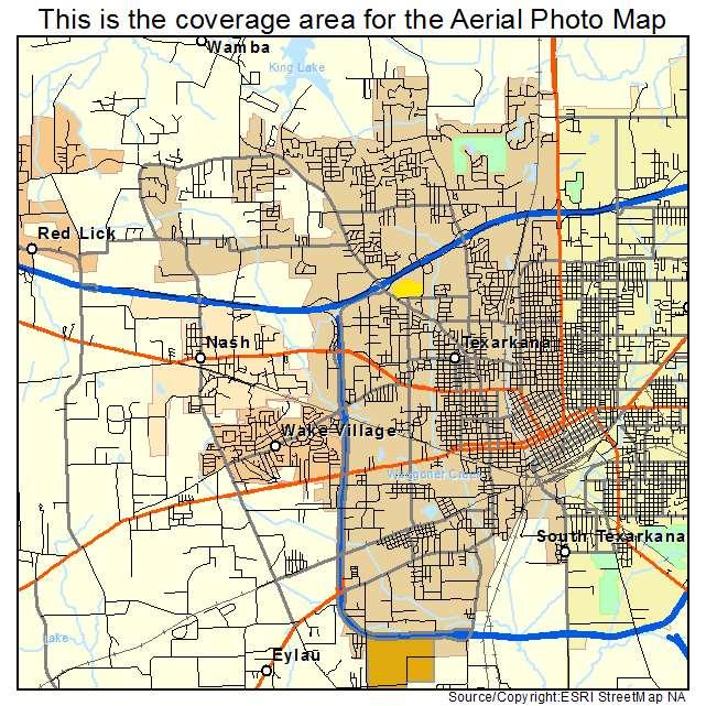 Aerial photography map of texarkana tx texas texarkana tx location map publicscrutiny Choice Image