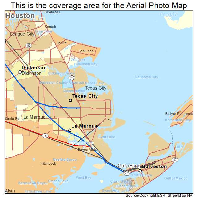 Map Of Texas City.Aerial Photography Map Of Texas City Tx Texas