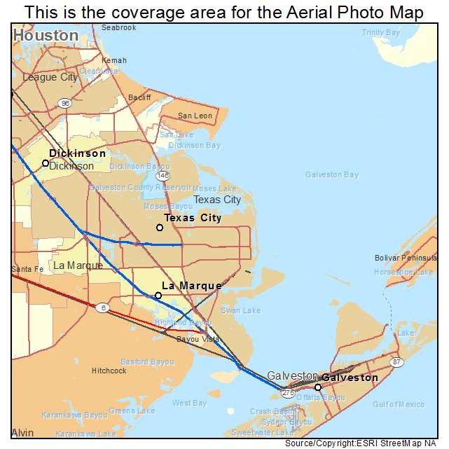 Map Of Texas City.Texas City Tx Texas Aerial Photography Map 2014