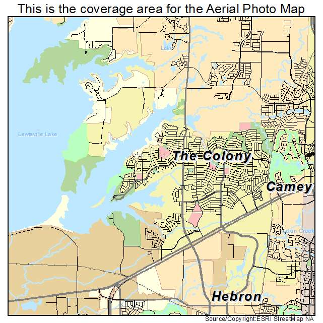 Map Of The Colony Texas