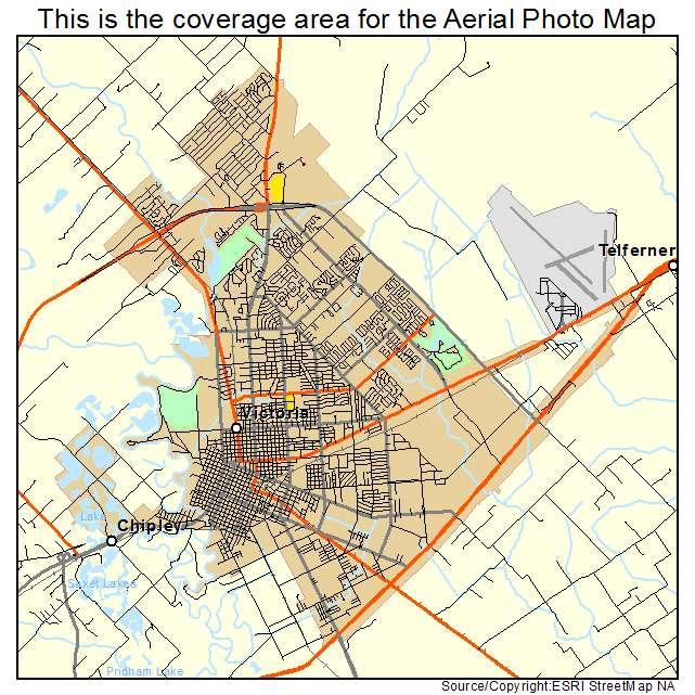 Map Of Texas Victoria.Victoria Tx Texas Aerial Photography Map 2014