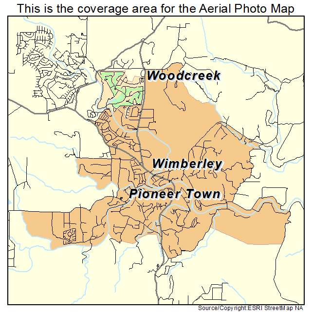 Aerial Photography Map Of Wimberley Tx Texas