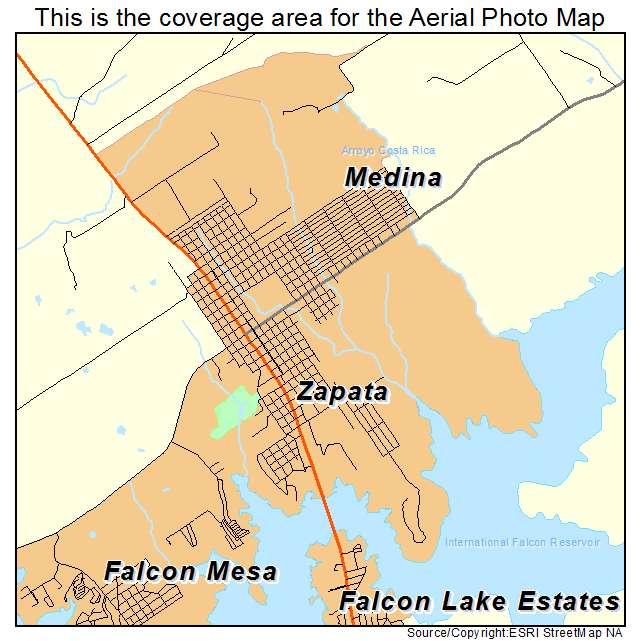 Map Of Zapata Texas.Aerial Photography Map Of Zapata Tx Texas