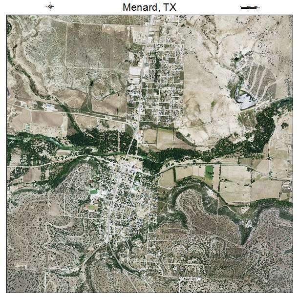 Menard, TX air photo map