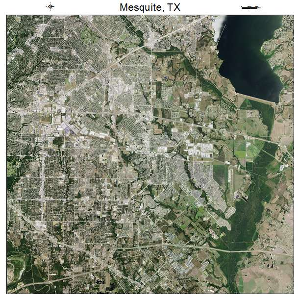 Aerial Photography Map Of Mesquite Tx Texas