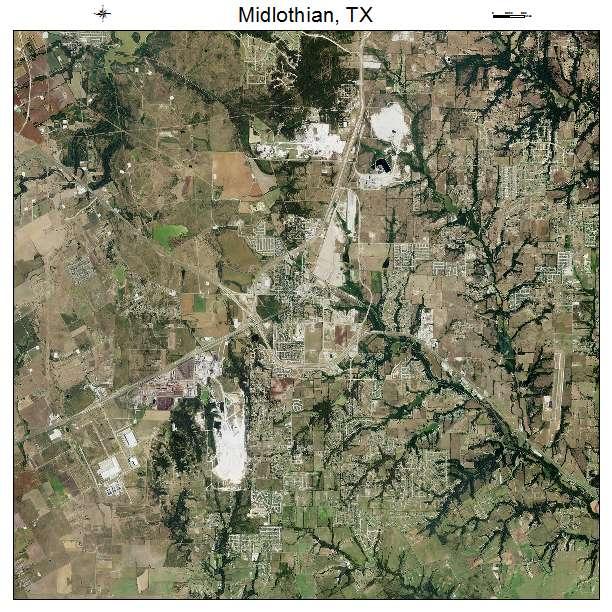 Map Of Texas 2014.Midlothian Tx Texas Aerial Photography Map 2014