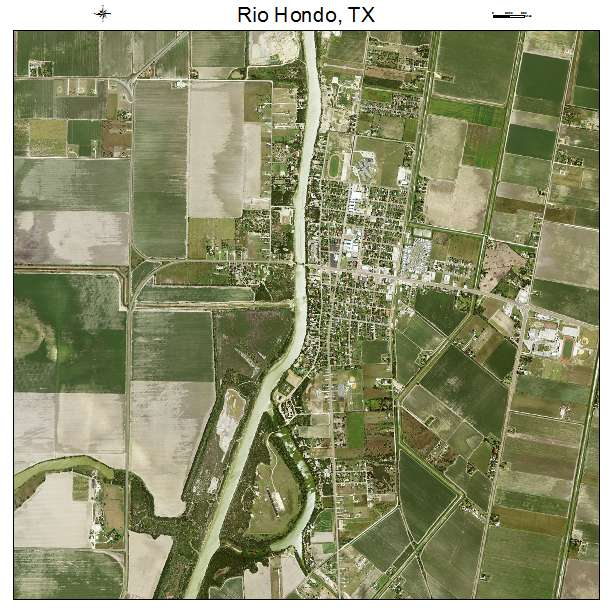 Aerial Photography Map Of Rio Hondo TX Texas