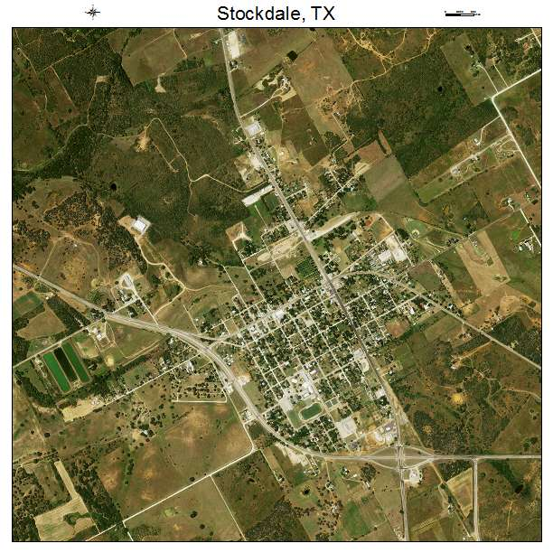 Stockdale, TX air photo map