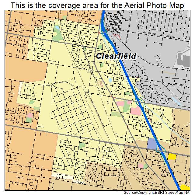 Aerial Photography Map of Clearfield, UT Utah