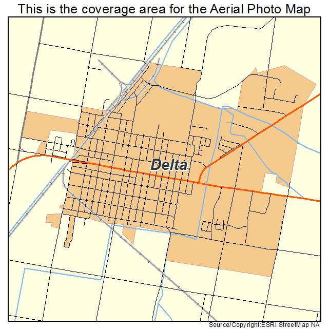 Aerial Photography Map Of Delta Ut Utah