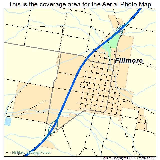 Aerial Photography Map Of Fillmore Ut Utah