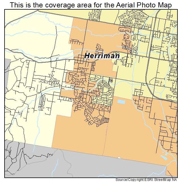 Aerial Photography Map of Herriman, UT Utah
