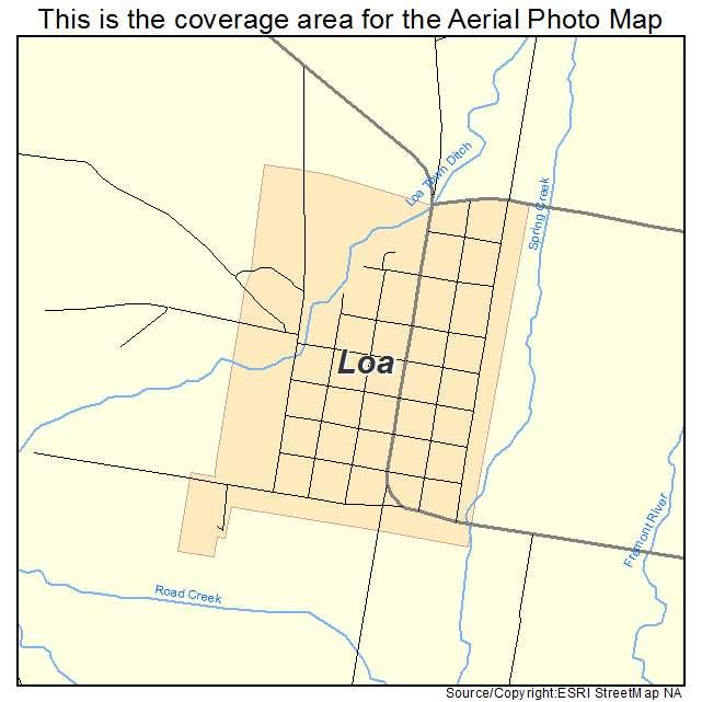 Aerial Photography Map Of Loa Ut Utah