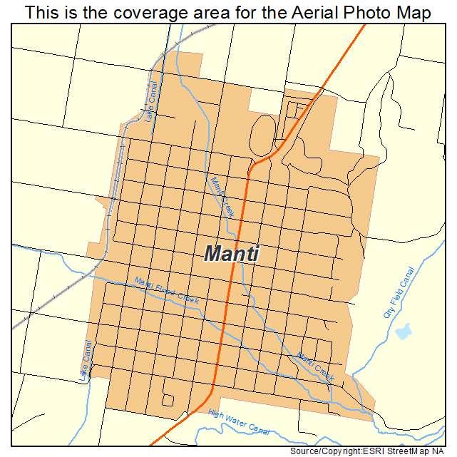 Aerial Photography Map Of Manti Ut Utah