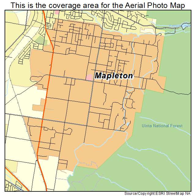 Aerial Photography Map Of Mapleton Ut Utah