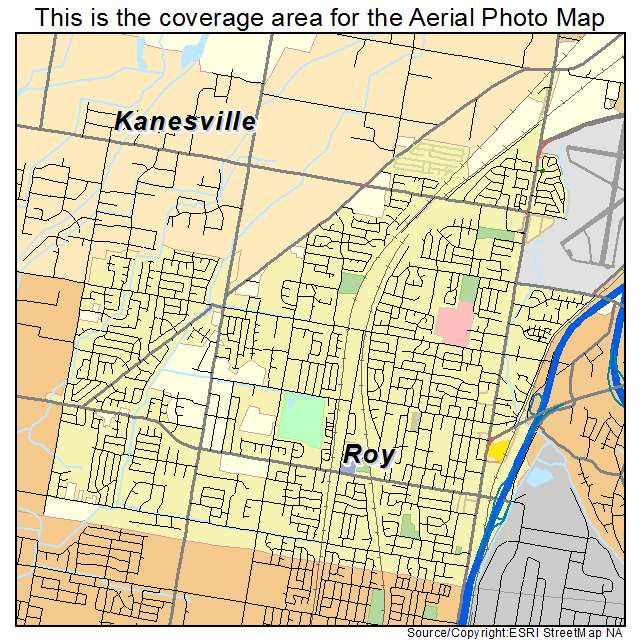 Aerial Photography Map Of Roy Ut Utah